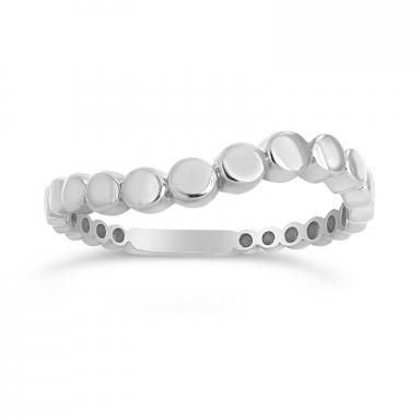 10K White Gold Stacking Circles Ring